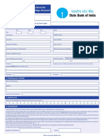 SBI Debit Card Application Form
