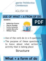 USE OF WHAT+AFROM OF DO