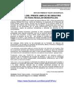 A INICIATIVA DEL FRENTE AMPLIO SE DEBATIRÁ PROYECTO PARA REGULAR MONOPOLIOS