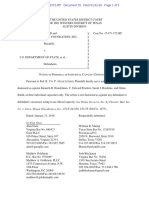 Defense Distributed v. Department of State - Notice of Dismissal of Individual Capacity Defendants