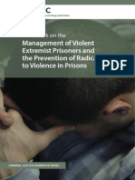 Handbook on the Management of Violent Extremist Prisoners and the Prevention of Radicalization to Violence in Prisons