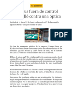 Noticia Accidente
