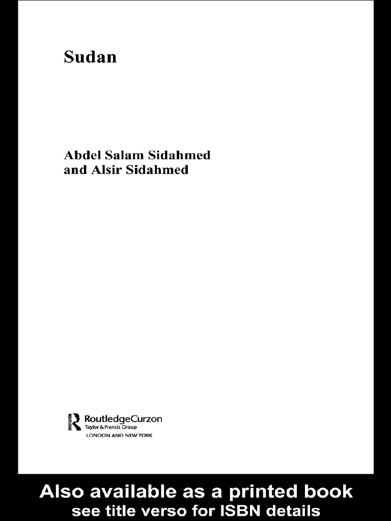 Salam Sidahmed Sudan Contemporary Middle Eastbook4you