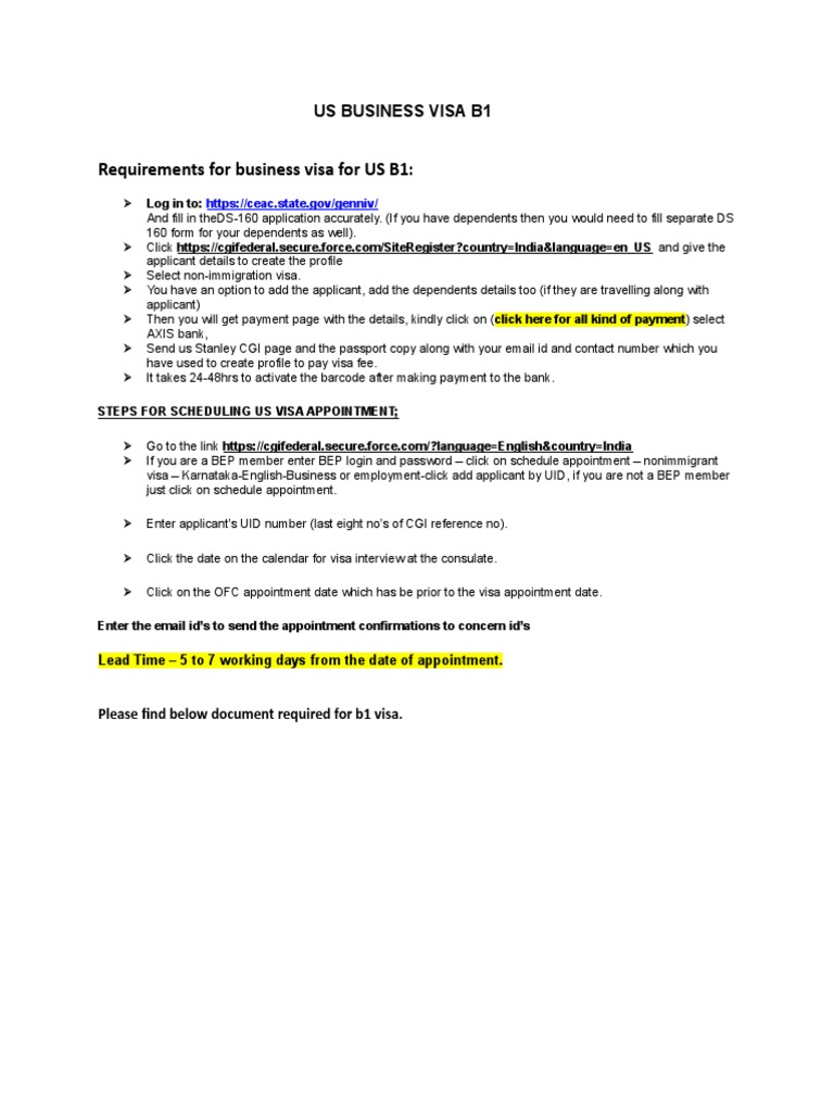Us Visa Guidance
