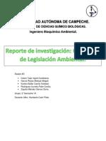 Reporte de Investigación - Conceptos de Legislación Ambiental