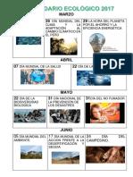CALENDARIO ECOLOGICO 2017