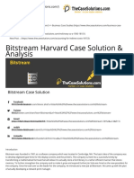 Bitstream Case Solution and Analysis, HBR Case Study Solution & Analysis of Harvard Case Studies
