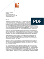 NSA Letter Regarding CPA Firm Exemption
