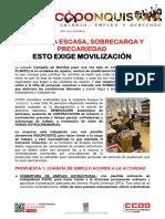 2373454-Comunicado CCOO Correos Falta Plantilla 2018-01-30