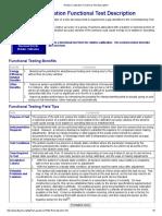 Relative Calibration Functional Test Description