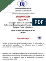 Repaso Clase 4 Indicadores Epidemiológicos Básicos, Razones, Proporciones, Tasas Dr Perea
