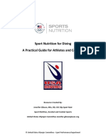 Sport Nutrition for Diving