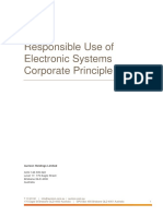 Responsible Use of Electronic Systems Corporate Principle
