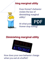 Diminishing Marginal Utility s