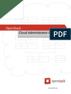 Admin Guide Cloud   Open Stack   Cloud Computing