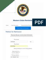 Western Union Remission Form