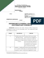 Offer of Evidence - PP v Lenguaje