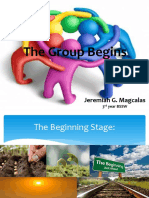 The Group Begins Report