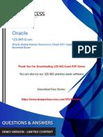 1Z0-965 Oracle Human Capital Management Exam Dumps - Success Secret