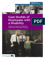 Case Studies of employees with disability