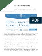Global Power Mentalità Imprenditoriale e Cuore Nel Sociale