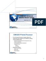 CDM-625 Advanced Satellite Modem Update