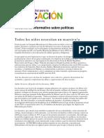 Campaña Mundial Para La Educación. Documento Informativo Sobre Políticas.