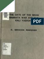 the date of the mahabharatha war and the kali yugadhi.pdf