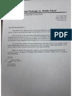 FMS Letter to Parents