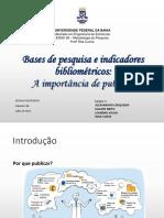 Apresentação sobre a importância de publicar