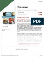 Céto cuisine | Thierry Souccar Editions