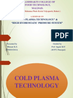 Cold Plsma &Hpp