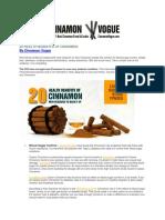 20 Health Benefits of Cinnamon