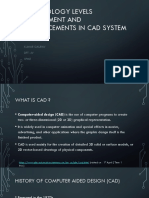 Technology Levels Assessment and Advancements in cad