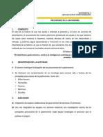2. Precursores de La Gastronomía.
