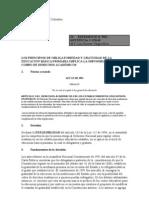 Corte Constitucional de Colombia Demanda Gratuidad Comunicado de Prensa