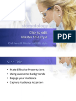 3017 Stomatology Powerpoint Template