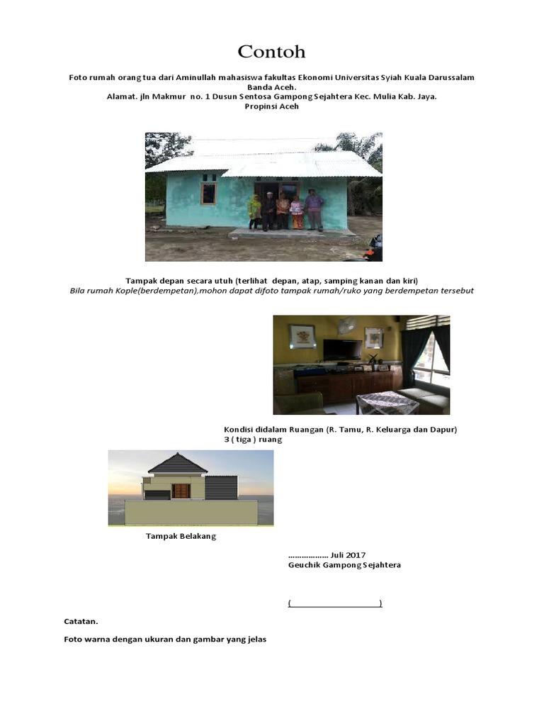 Contoh Foto Rumah Bidikmisi