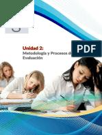 Unidad 2 - Metodología y Procesos de La Evaluación