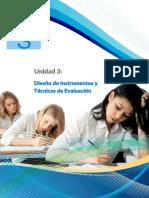 Unidad 3 - Diseño de Instrumentos y Técnicas de Evaluación