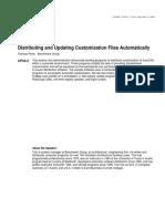Distributing and Updating Customization Files Automatically