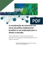 ARTIGO_A Coordenação de Interesses Em Torno Da Política Habitacional Brasileira e Sua Implicação Para o Direito à Moradia