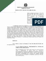 Súmulas TST e OJ's Canceladas, Alteradas e Atualizadas de Acordo Com o Novo CPC