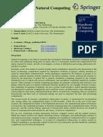 Handbook of Natural Computing