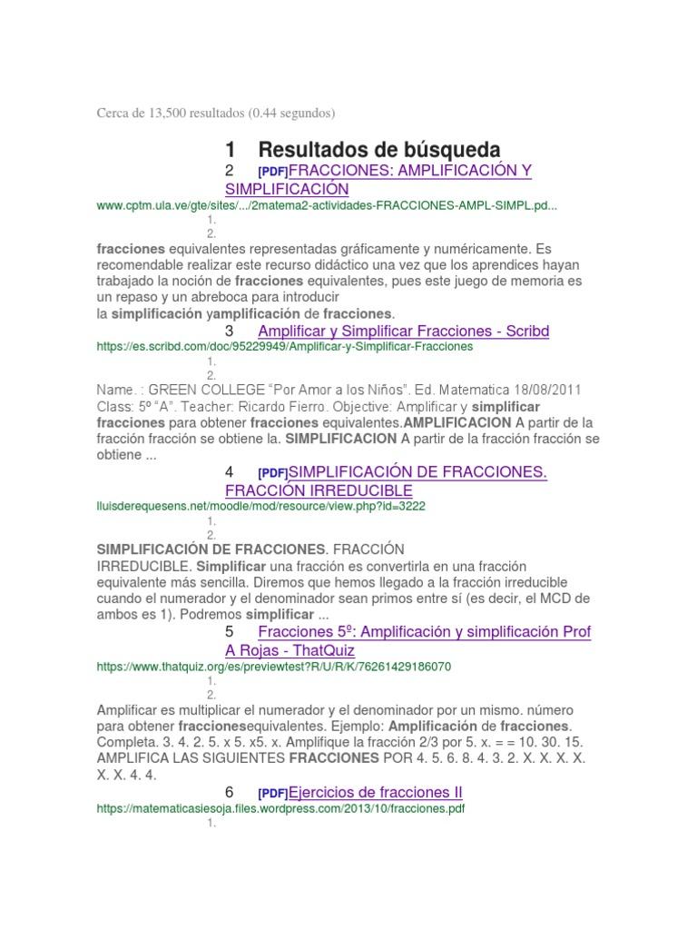 Perfecto Fracciones Equivalentes Hoja Pdf Colección - hojas de ...