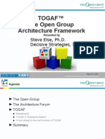 Understanding and Applying the Open Group Architecture Framework (TOGAF)