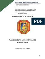 Relacion de Plazas Contrato 2018