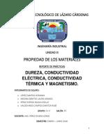 Reporte Durezamagnetismo Conducción Térmica y Eléctrica 2