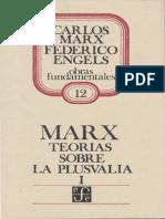 Carlos Marx Teorias sobre  la Plusvalia  Tomo 1.pdf