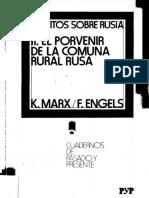K Marx, F Engels El porvenir de la Comuna Rural rusa.pdf